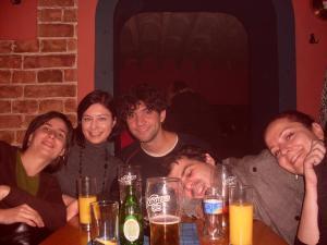 Ljubica, Sandra, eu, Filipe e Andrea