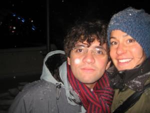 Eu e Darcie na neve