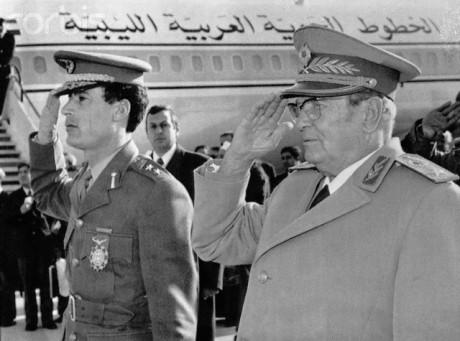 Tito recebe Gaddafi em Belgrado, 1973